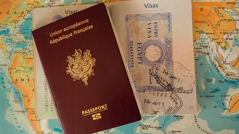 Pasaport Franta, vize