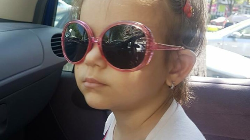 Daria, fetita de 3 ani