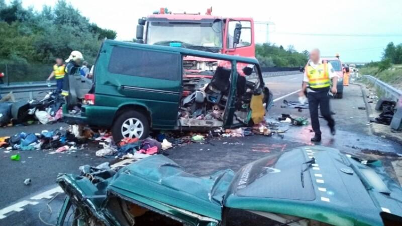 accident Ungaria, nouă români