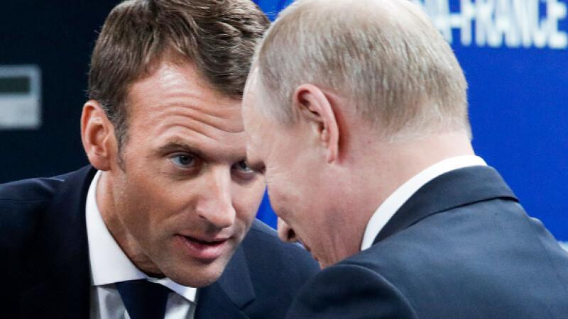 Propunerea făcută în glumă de Putin lui Macron despre securitatea Europei. Reacția liderului francez