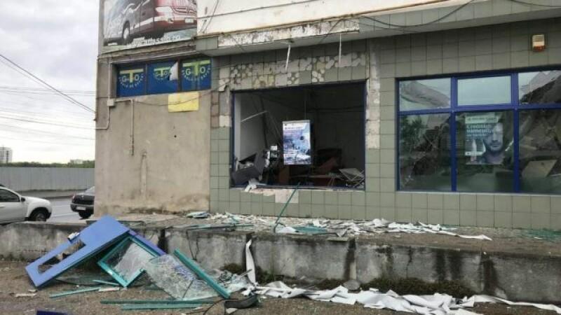 Bancomat din Arad aruncat in aer
