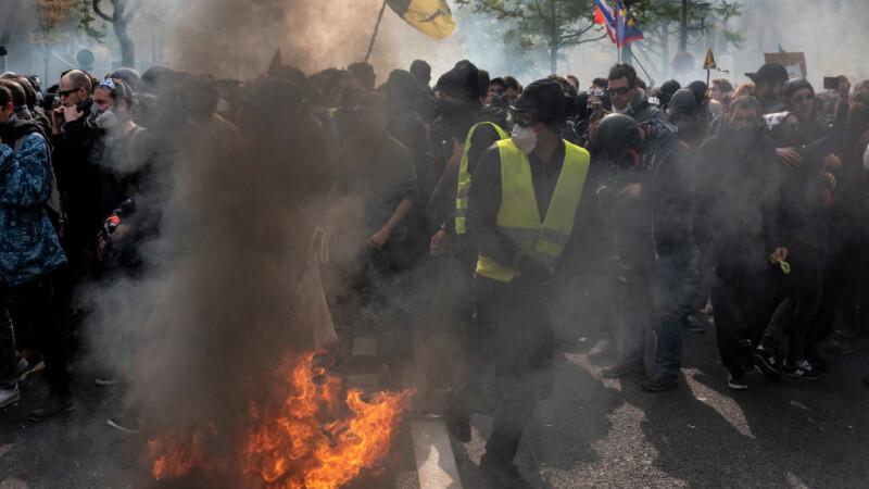 Proteste de amploare de Ziua Muncii. Zona din Rusia unde oamenii au purtat veste galbene - 4