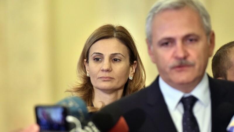 Anca Alexandrescu, consilier pentru Comunicare la Cabinetul presedintelui Camerei Deputatilor, Liviu Dragnea, asista la declaratia de presa sustinuta de presedintele Camerei Deputatilor, la Palatul Parlamentului.