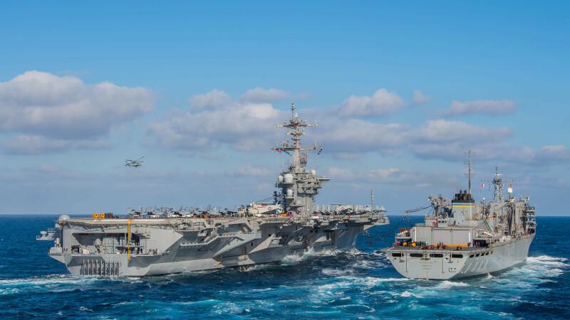 Statele Unite trimit o forţă militară împotriva Iranului, inclusiv un portavion