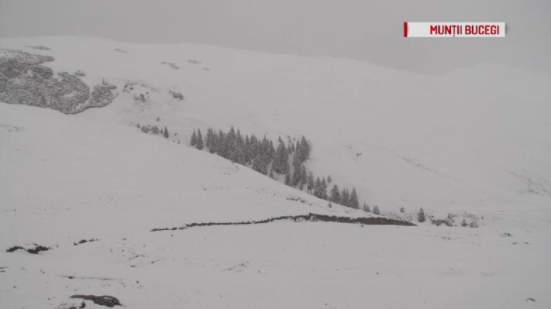 Iarna s-a întors în unele zone din România