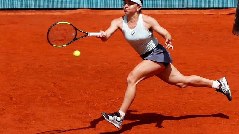 Simona Halep s-a calificat în sferturile de finală ale Madrid Open