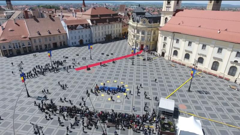 Securitate sporită la summitul de la Sibiu. Zona este monitorizată cu drona. VIDEO