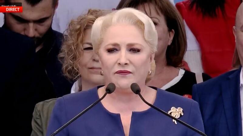 Viorica Dăncilă, miting PSD Galați