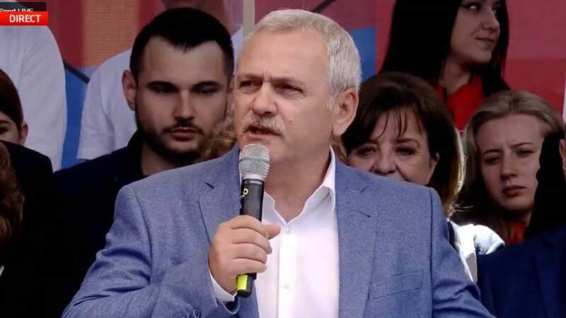 Liviu Dragnea, miting PSD Galați