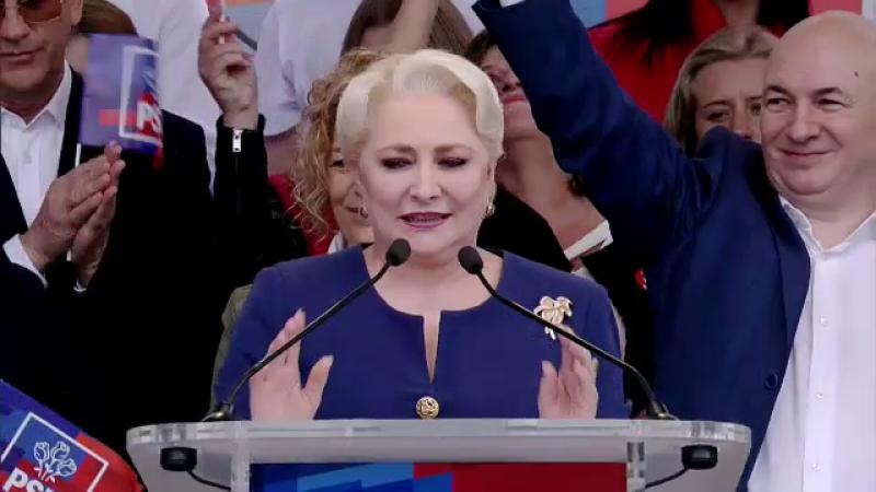 Viorica Dăncilă, la mitingul PSD de la Galați