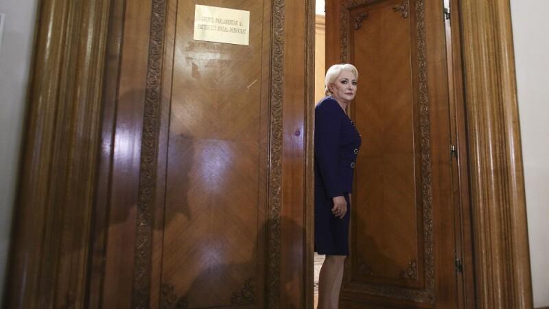 Viorica Dancila la finalul sedintei Comitetului executiv al PSD