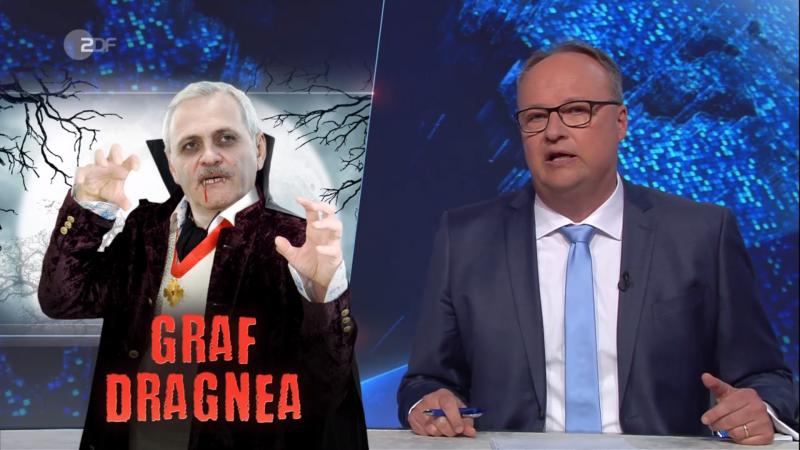 """Dragnea, ironizat la o televiziune germană. """"Vampirul"""" care ia banii orfanilor. VIDEO"""