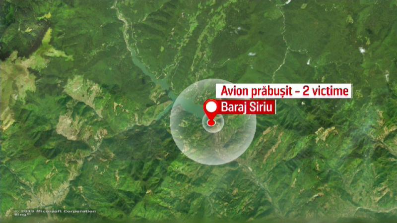 Avion de mici dimensiuni prăbușit în Buzău. Două persoane au murit