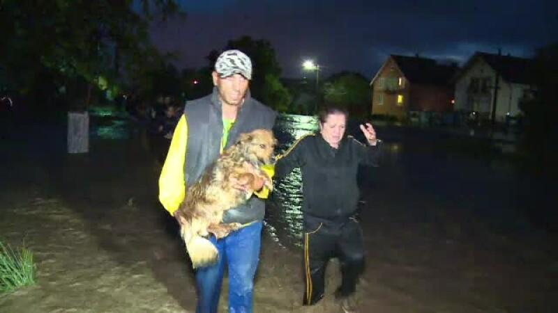 Viituri devastatoare în Bistrița și Mureș. Mai multe gospodării au fost inundate