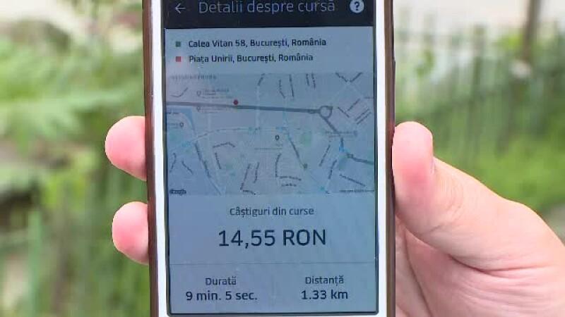 Cât au câștigat șoferii Uber în prima zi în care a intrat în vigoare ordonanța