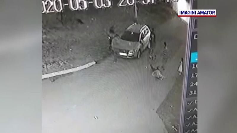 Bărbat în comă după ce a fost lovit de față cu soția și copilul. Agresiunea a fost filmată