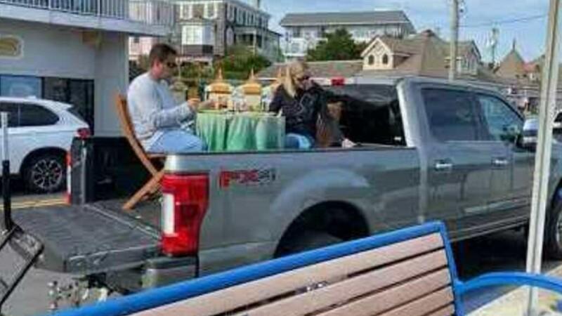 cina in camioneta