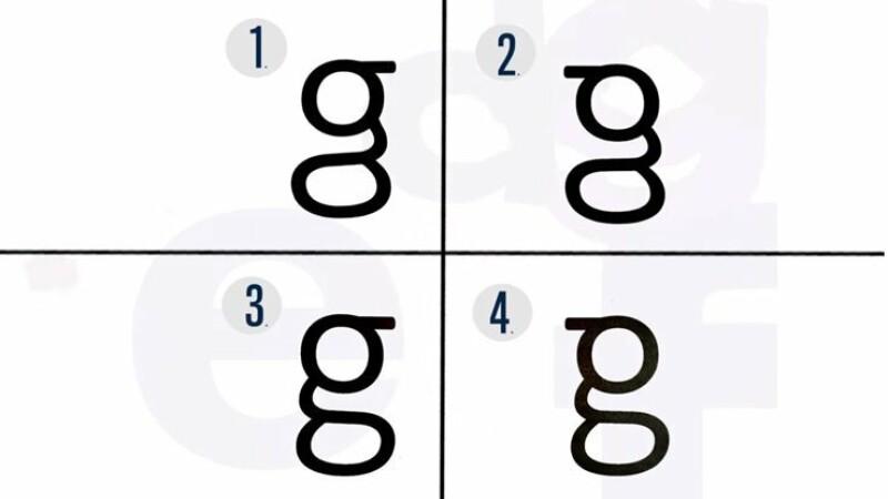 studiu despre litera g