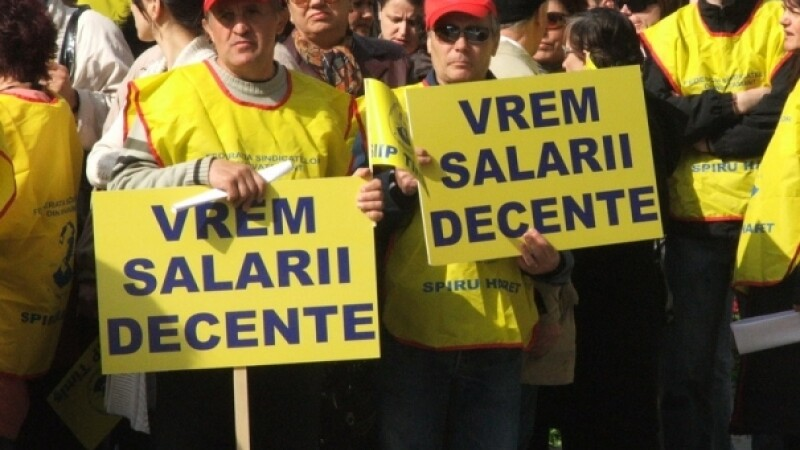 Spiru Haret protesteaza impotriva amanarii cresterii salariale