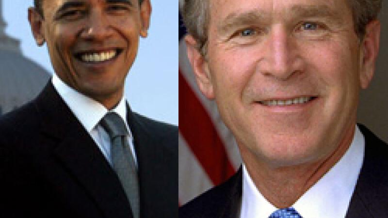 Obama si Bush