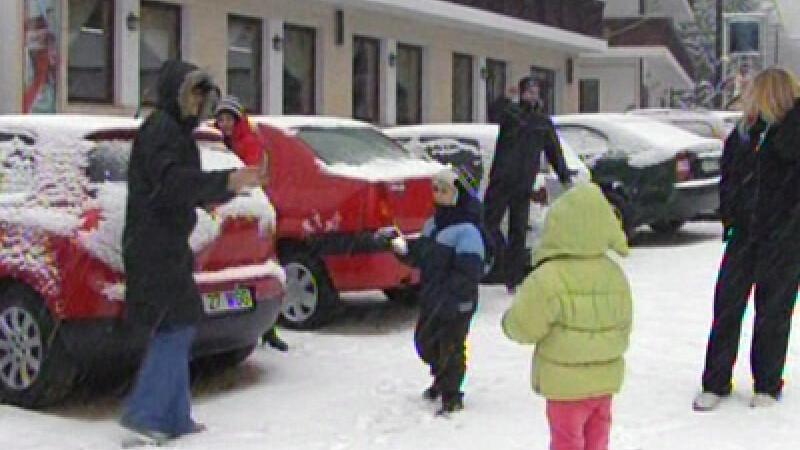A venit iarna in Romania!