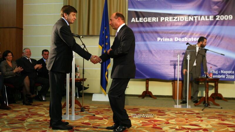 Traian Basescu si Crin Antonescu