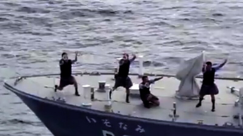 Paza de coasta a Japoniei danseaza