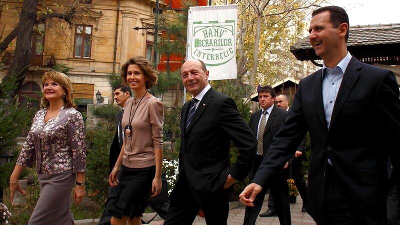 Traian si Maria Basescu si presedintele Siriei cu sotia sa