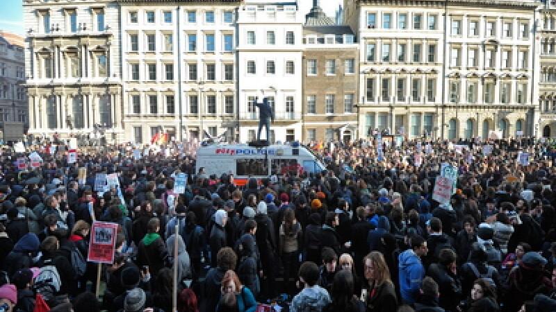 Proteste la Londra