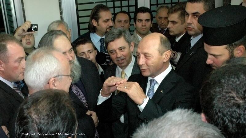 Traian Basescu in Serbia