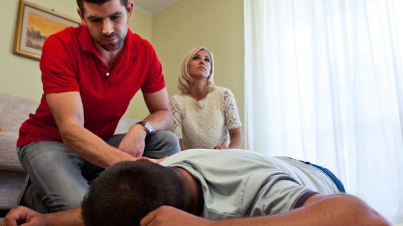 Accident de genunchi de prim ajutor