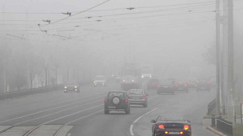 Cod galben de ceata pentru sase judete si Bucuresti pana la ora 08:30