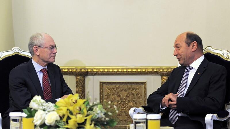 Traian Basescu si van Rompuy