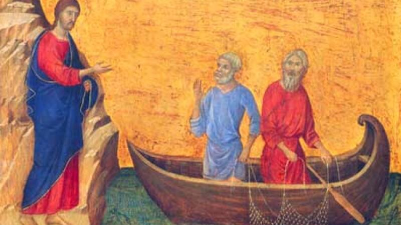 Iisus cu Sfintii Petru si Andrei