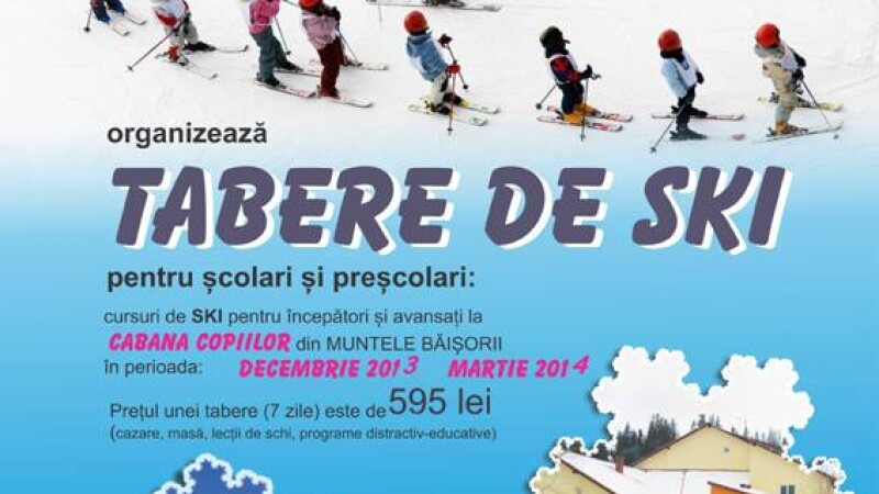 Au inceput inscrierile pentru taberele de schi organizate de Palatul Copiilor din Cluj