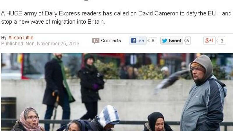 Englezii spun NU romanilor si bulgarilor. Daily Express: Petitia a strans peste 150.000 de semnaturi