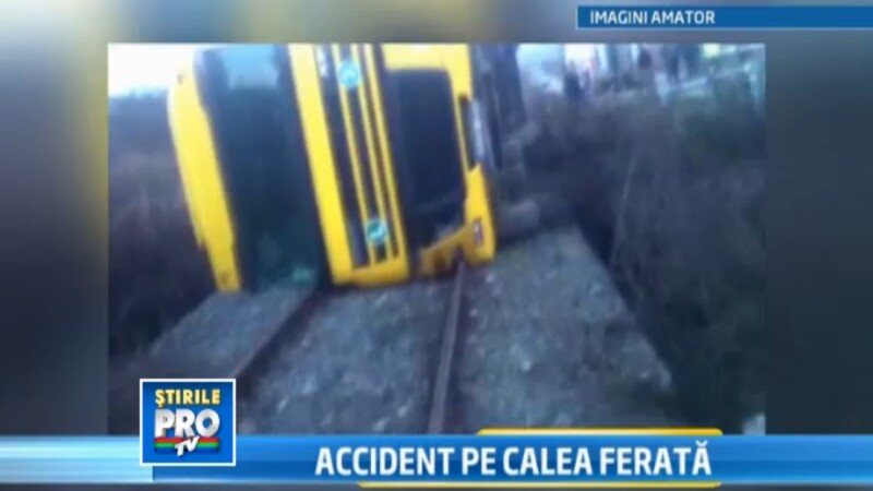 Dezastru pe calea ferata in apropiere de comuna Lechinta din judetul Bistrita-Nasaud