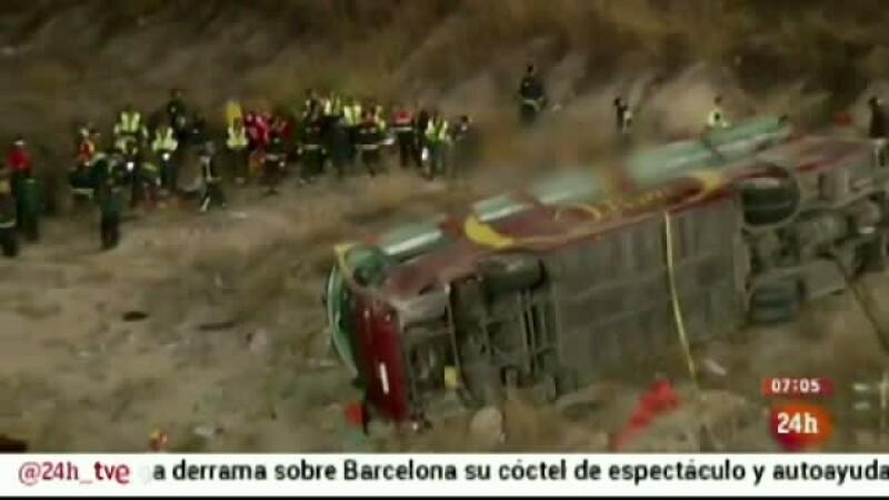 accident autocar Spania