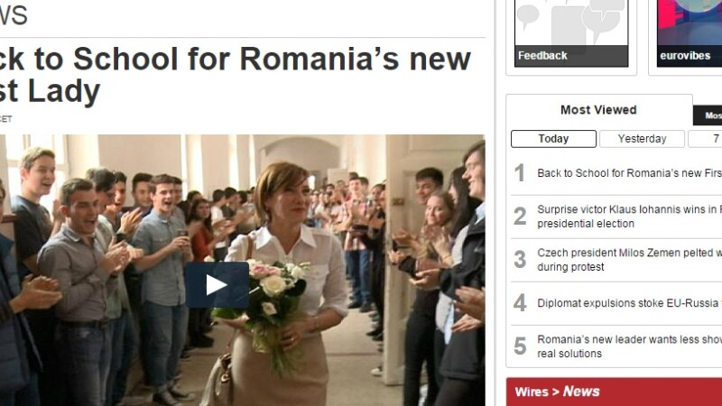 Euronews, Carmen Iohannis