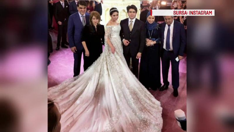 Nunta fastuoasa, cu tort de 3 m si 900 de invitati pentru fiica unui oligarh din Tadjikistan. Cat a costat rochia miresei