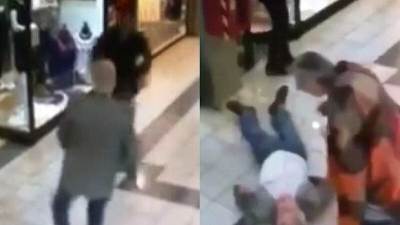 Momentul in care un pensionar opreste un hot intr-un mall din Chile, riscandu-si viata. Batranul a devenit un erou. VIDEO