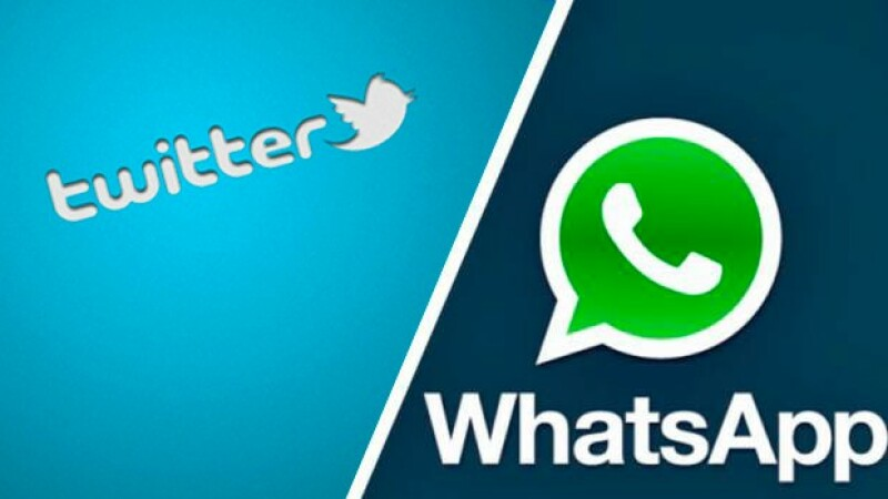 Twitter si Whatsapp
