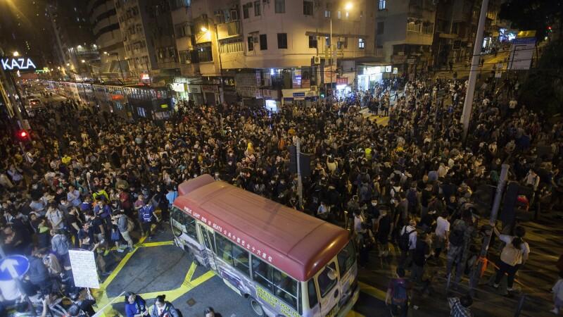proteste Hong Kong - Agerpres
