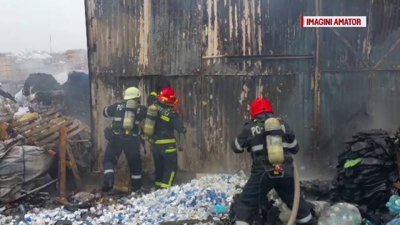 Sase oameni au fost raniti in incendiul din Stefanesti. Autoritatile spun ca hala nu avea nevoie de autorizatie