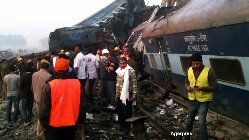 Bilantul accidentului feroviar din India a ajuns la 120 de morti si 200 de raniti. Care ar fi cauza tragediei