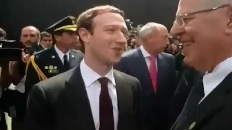 Prezenta lui Mark Zuckerberg, fondatorul Facebook, la Lima, a provocat isterie printre locuitorii din capitala Peru