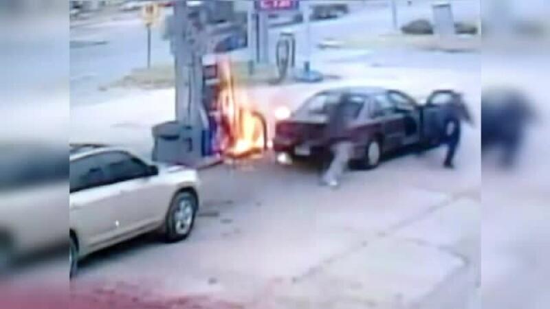 incendiu benzinarie