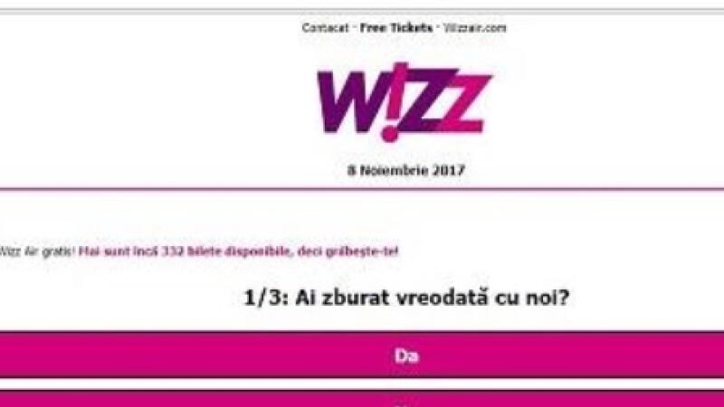 wizzAir, phishing, bilete,
