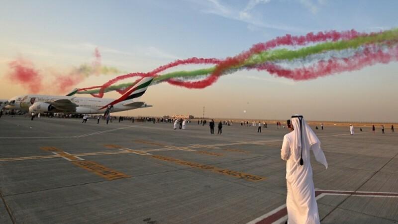 Spectacol aerian în Dubai