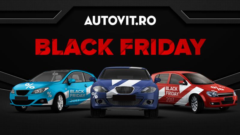Black Friday 2017: mașini reduse cu 40% pe Autovit